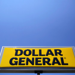 A sign is seen outside a Dollar General store in Chicago, Illinois in this May 2016 file photo.