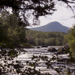 The view of Haskell Rock Pitch on the East Branch of the Penobscot River with Bald Mountain in the background can be seen Wednesday. President Barack Obama designated about 87,000 acres of land east of Baxter State Park as the new Katahdin Woods and Waters National Monument.