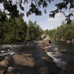 The view of Haskell Rock Pitch on the East Branch of the Penobscot River. President Barack Obama designated roughly 87,000 acres of land East of Baxter State Park as the new Katahdin Woods and Waters National Monument on Wednesday morning.